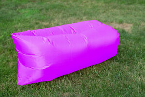 """Outdoor Inflatable Lounger 83""""x39""""x32"""" Weight Cap. 400lbs Inflates Automatically"""