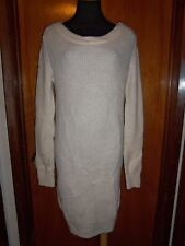 Victoria's Secret Moda International Ivory Slouchy Sweater Dress Tunic M New