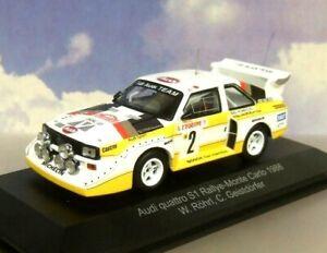 CMR 1/43 AUDI QUATTRO S1 MONTE CARLO RALLY 1986 W. ROHRL WRC003B (NIGHT STAGE)