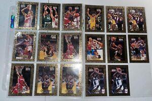 1995 NBA HOOPS 17 CARD GOLD MINE LOT NM DIVAC VAN EXEL SPUD WEBB IN PAGE SLEEVES