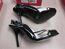 bcbg girls black rocka slingback sandals. size 10