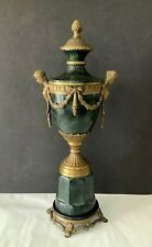 """VTG French Style Neoclassical Lady Bust Details Bronze 19"""" Tall Urn Sculpture"""