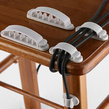 Cable Clip Holder Weighted Desktop Cord Management Fixture (white) TP