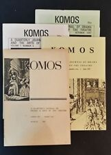Komos - Quarterly Journal Of Drama & Arts Of The Theatre - First 4 Issues 1967-8