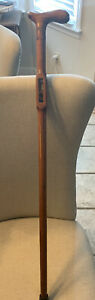 masonic Mason walking wooden two ball cane