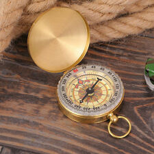 Pocket Brass Watch Style Camping Outdoor Navigation Compass Ring Keychain Sports