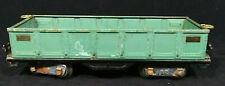 Prewar LIONEL No. 512 GONDOLA - Peacock Green - Standard Gauge - Vintage 1 Owner