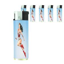 Amazon Warrior Princess D21 Lighters Set of 5 Electronic Refillable Butane
