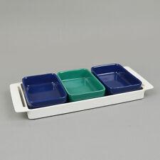 Melitta Stockholm Servierschalen Schalen Blau Grün 60er 70er, Vintage Tablett #2