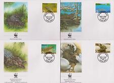 Palau 1994 WWF - Estuarine Crocodile - 4 First Day Covers FDC - (187)