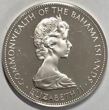 KM# Proof 1972 Bahamas $5 Dollars Queen Elizabeth II .925 Silver World Coin