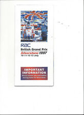 original Flyer Formel 1 Grand Prix von Großbritannien 1997 = Silverstone