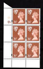 Scotland - Questa - 26p Red Brown - Cyl Q1 x 6 Mnh