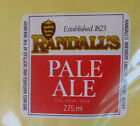 VINTAGE BRITISH BEER LABEL - RANDALLS BREWERY, PALE ALE 275 ML