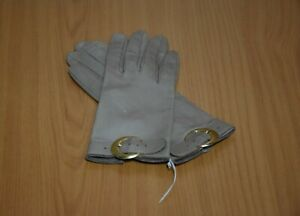 Guanti da Donna in Pelle Beige Tg. Piccola Vintage Made in Italy Originali