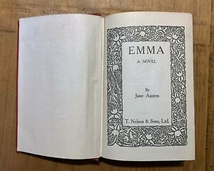 'Emma' A Novel by Jane Austen Hardback around 1940's