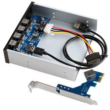 "USB 3.0 PCI Express PCI-E Card Adapter 5.25"" Front Panel Expansion Bay 4 Ports"