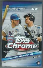2020 Topps Chrome Baseball Factory Sealed Hobby Box 2 AUTOS Per Box