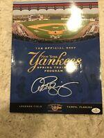Alex Rodriguez Signed Autographed 2007 Yankees Spring Training Program - COA