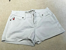 Mudd Womens Juniors Shorts SZ 13 Cream/ Off White Button-Fly late 90 early 2000