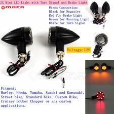 2Pcs Mini 12V LED Brake Turn Signal Light Running Lamp Fit Harley Chopper Bobber