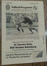 Programm 1958 R. Babelsberg BFC Dynamo Berlin DDR Oberliga DFV SC Dynamo Berlin