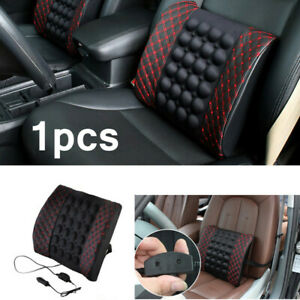 12V Car Back Support Comfort Lumbar Seat Chair Pillow Electric Massage Cushion