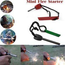 Hot Survival Magnesium Flint and Steel Striker Fire Starter Lighter Stick Campin