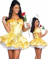 Princess Belle Fancy Dress Beauty Costume Fairy Tale Sexy Hen Party Adult Outfit
