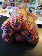 6 x 50g Knitting Essentials DK 100% Acrylic Bright rainbow lot 280 Wool yarn