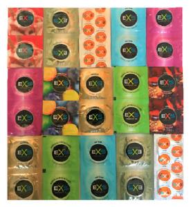 EXS  Condoms  - Nano Air Thin - Ribbs &  Dotts - Flavours - Small - Extra Safe