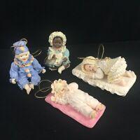 Set of 4 VTG 1993 Ashton Drake Heirloom Miniature Doll Ornament Yolanda Bello 14