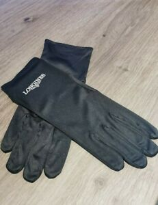Brand new Longines Watch Presentation Cleaning Glove Gloves Pair Black Small