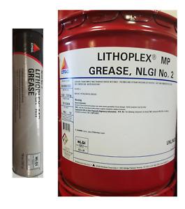 Citgo Lithoplex MP #2 Grease; Multipurpose NLGI Grease; Tubes or 5 Gallon Pail