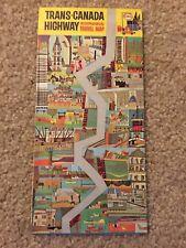 Vintage 1965 ENCO Trans-Canada Travel Map Road Map