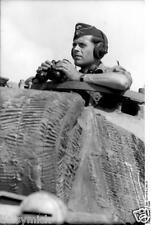 German Army Panzer Tank Commander Italy 1944 World War 2, Reprint Photo 6x4 Inch