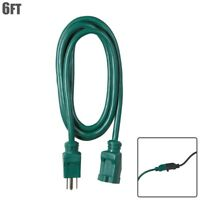 6FT 16/3 Gauge Outdoor Water Resistant Extension Power Cord Cable 13A SJTW Green