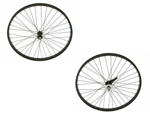 "Black 26"" x 2.125 Bicycle Alloy Wheel 12G Heavy Duty Spokes Cruiser Bikes"