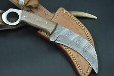 Karambit XL Tactical Knife CS MEGA Messer Damascus Jagdmesser Damastmesser #180