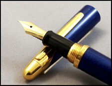 GREAT LARGE DUNHILL AD 2000 AZURE BLUE AND GOLD FOUNTAIN PEN