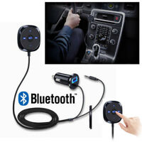 Car Bluetooth Audio Music Receiver Kit 3.5mm Adapter USB Charger AUX MP3 Play AR