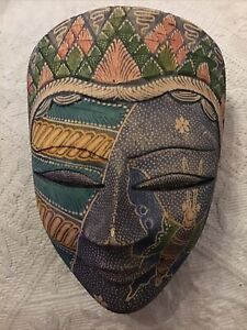 Indonesian Painted Mask Wall Ornament
