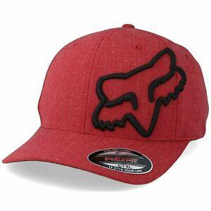 Fox Racing Clouded 2.0 -FLAME RED- Flexfit Hat -SMALL/MEDIUM- Adult Mens Cap