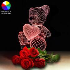 LED Light Gift For Her Girlfriend Wife Woman Mom Love Teddy Bear Decor Birthday