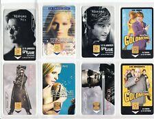 8 PHONE CARD SET / TELECARTE .. FRANCE PACK CINEMA MOVIE STAR TOPIC USED/CHIP