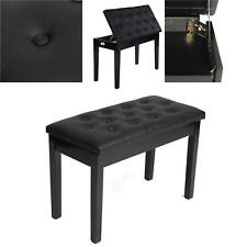 Klavierbank Klavierstuhl Pianobank Höhenverstellbar Hocker Stuhl für 2 Personen