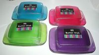 New Plastic Butter Dish Box Holder Kitchen Fridge with Lid in 4 Colours