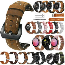 Genuine Leather Band Strap For Samsung Galaxy Watch 42mm 41mm S2 Active2 40/44mm