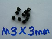 QTY10 M3X3mm Cup Point Grub Set Screws RC Car Truck Boat Airplane - US Seller