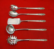 Queen's Lace by International Sterling Silver Hostess Set 5pc HHWS  Custom Made